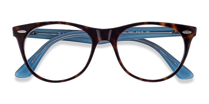 Tortoise Blue Ray-Ban RB2185V -  Acetate Eyeglasses