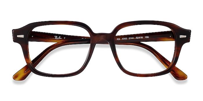 Striped Havana Ray-Ban RB5382 -  Acetate Eyeglasses