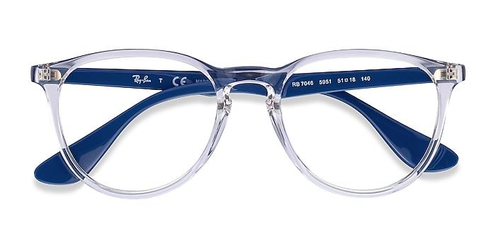 Clear Blue Ray-Ban RB7046 -  Fashion Plastic Eyeglasses
