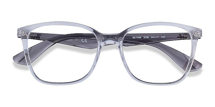 Clear Gray Ray-Ban RB7066 -  Fashion Plastic Eyeglasses