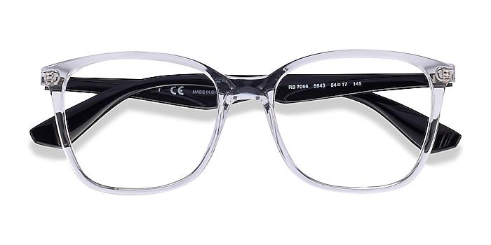 Clear Black Ray-Ban RB7066 -  Fashion Plastic Eyeglasses