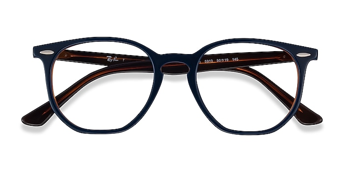 Blue Tortoise Ray-Ban RB7151 -  Classic Acetate Eyeglasses