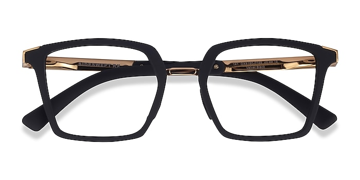 Black & Gold Oakley Sideswept Rx -  Metal Eyeglasses