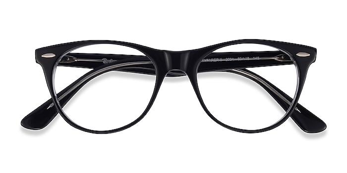 Black Clear Ray-Ban RB2185V -  Acetate Eyeglasses