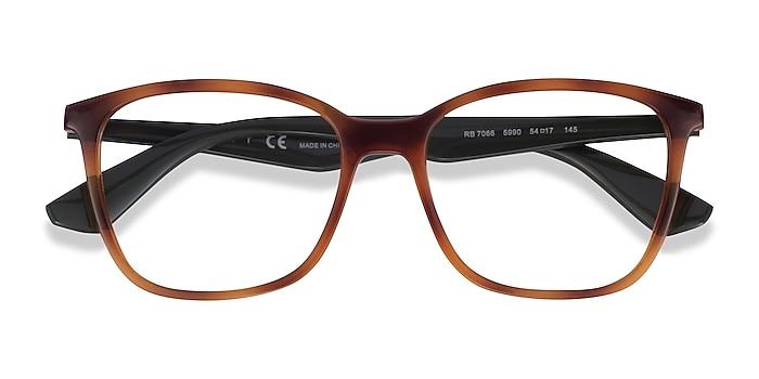 Tortoise & Green Ray-Ban RB7066 -  Plastic Eyeglasses