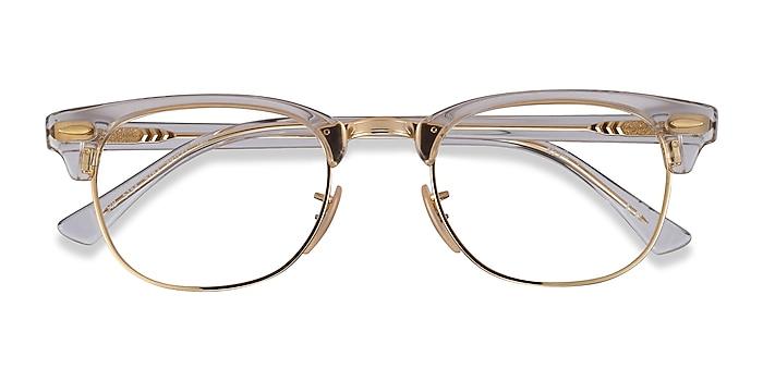 Gold Transparent Ray-Ban RB5154 -  Acetate, Metal Eyeglasses