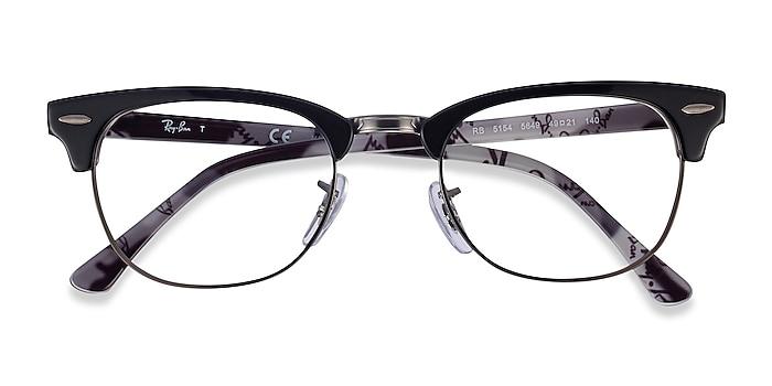 Black Multicolor Ray-Ban RB5154 -  Vintage Acetate, Metal Eyeglasses
