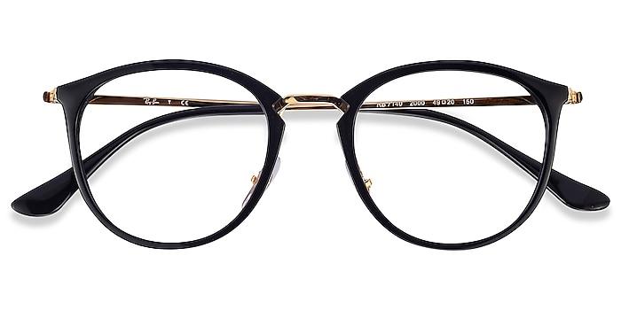 Black Gold Ray-Ban RB7140 -  Vintage Plastic, Metal Eyeglasses