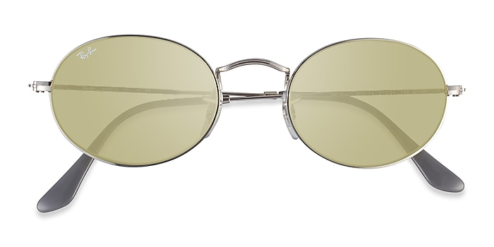 Silver Gray Ray-Ban RB3547 -  Metal Sunglasses