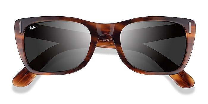 Striped Havana Ray-Ban Caribbean -  Acetate Sunglasses