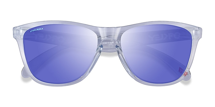 Polished Clear Oakley Frogskins -  Plastic Sunglasses