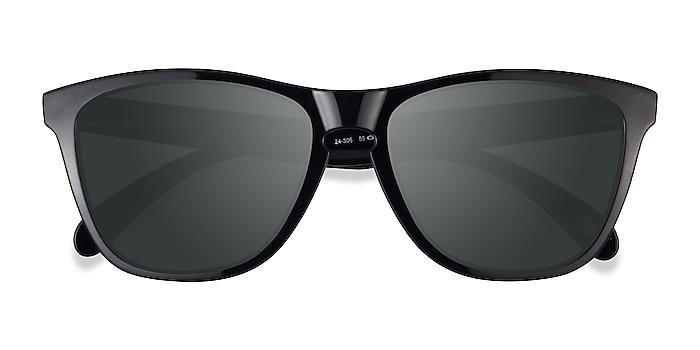 Polished Black Oakley Frogskins -  Plastic Sunglasses