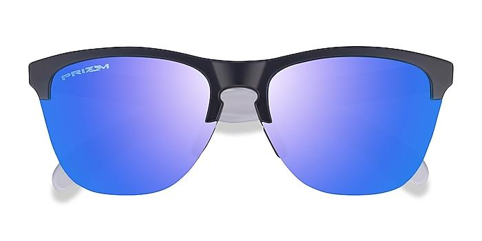 Matte Black Matte Clear Oakley Frogskins Lite -  Plastic Sunglasses