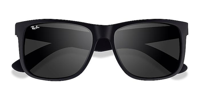 Matte Black Ray-Ban Justin -  Plastic Sunglasses