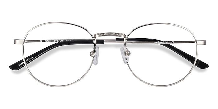 Silver Epilogue -  Vintage Metal Eyeglasses