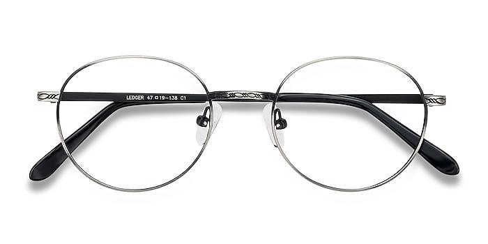 Silver Ledger -  Vintage Metal Eyeglasses