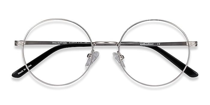 Silver Inscription -  Vintage Metal Eyeglasses