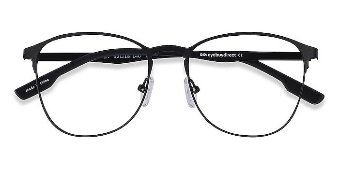 Matte Black Ember -  Geek Metal Eyeglasses
