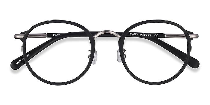 Matte Black Carnival -  Vintage Plastic, Metal Eyeglasses