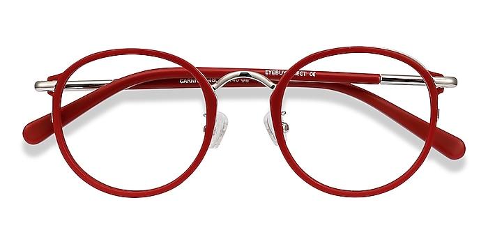Matte Red Carnival -  Vintage Plastic, Metal Eyeglasses