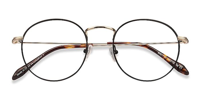 Black Wistful -  Lightweight Metal Eyeglasses