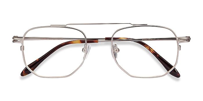 Matte Silver Cordon -  Vintage Metal Eyeglasses