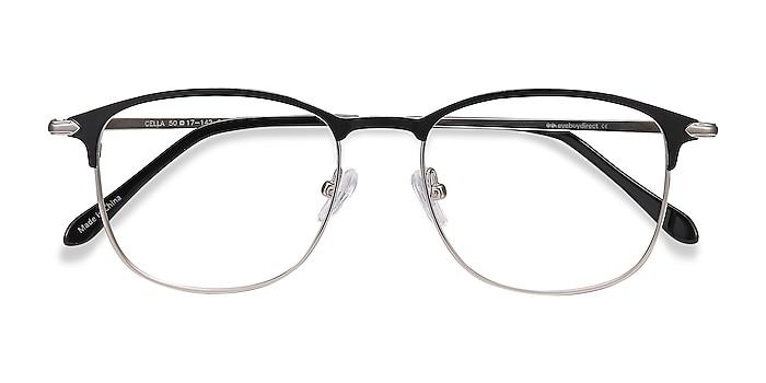 Black Cella -  Lightweight Metal Eyeglasses
