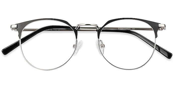 Black Silver Veronica -  Lightweight Metal Eyeglasses