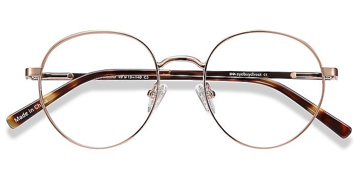 Rose Gold Nomad -  Vintage Metal Eyeglasses