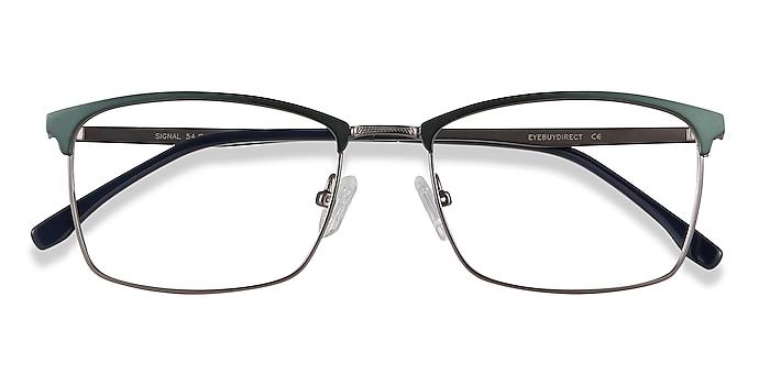 Green Signal -  Lightweight Metal Eyeglasses