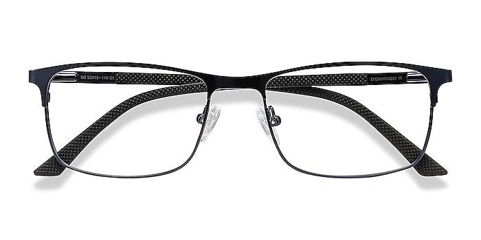 Navy Wit -  Lightweight Metal Eyeglasses