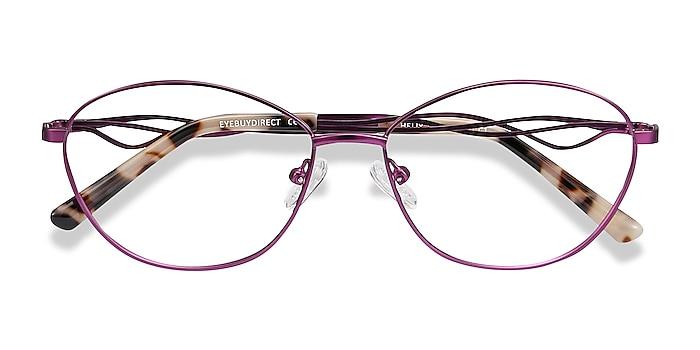 Purple Helix -  Lightweight Metal Eyeglasses