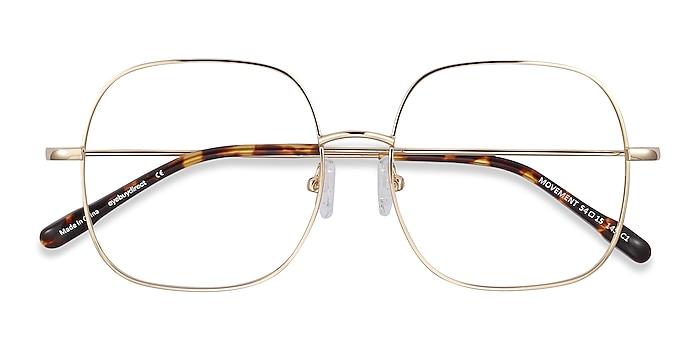 Golden Movement -  Lightweight Metal Eyeglasses