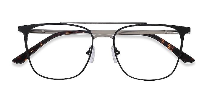 Black Contact -  Metal Eyeglasses