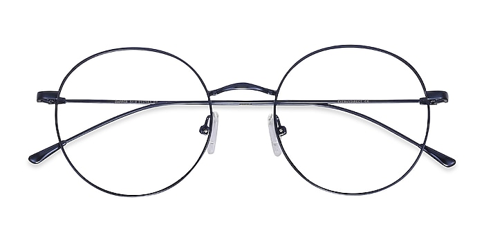 Navy Dapper -  Lightweight Metal Eyeglasses