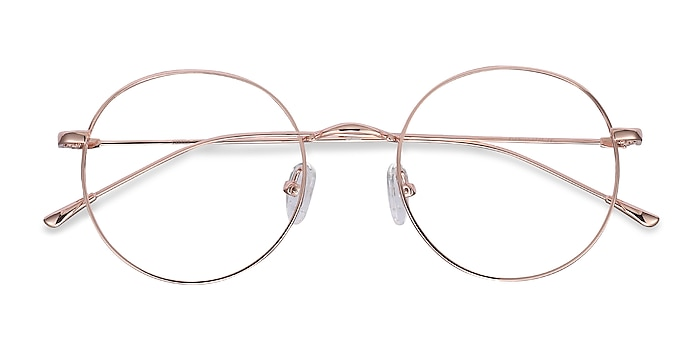 Rose Gold Dapper -  Fashion Metal Eyeglasses