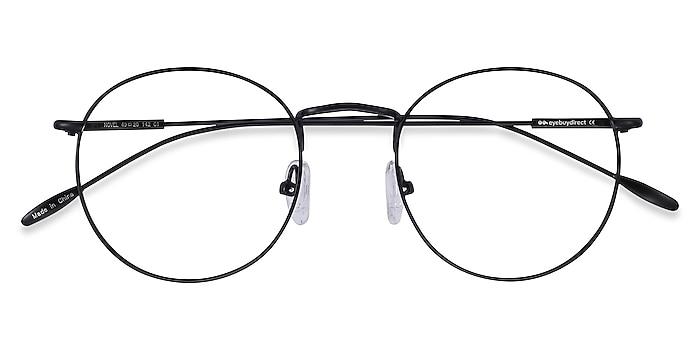 Black Novel -  Vintage Metal Eyeglasses