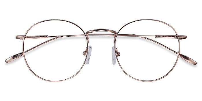 Rose Gold Novel -  Vintage Metal Eyeglasses