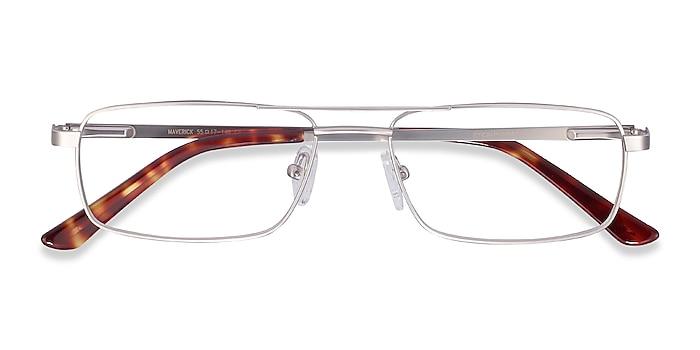 Silver Maverick -  Lightweight Metal Eyeglasses