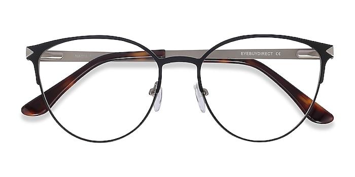 Black Nadia -  Vintage Metal Eyeglasses