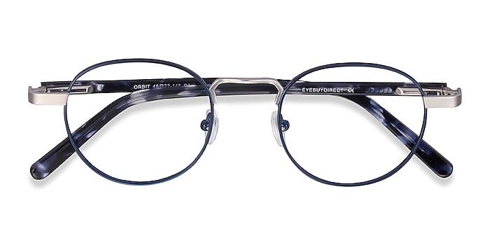 Blue Orbit -  Acetate, Metal Eyeglasses