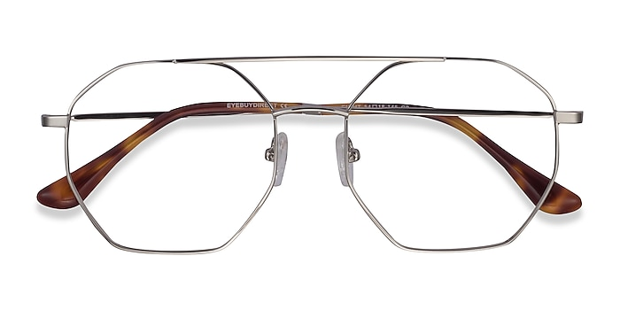 Silver Eight -  Vintage Metal Eyeglasses