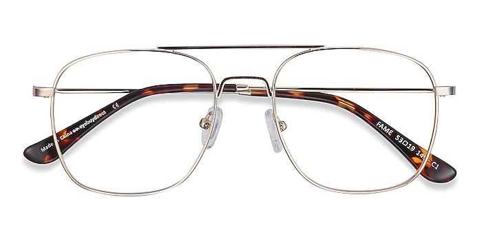 Golden Fame -  Vintage Metal Eyeglasses