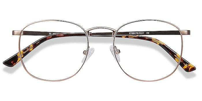Rose Gold St Michel -  Vintage Metal Eyeglasses