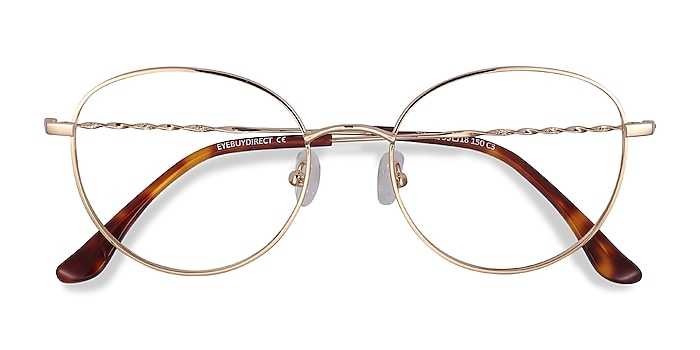 Golden Twirl -  Lightweight Metal Eyeglasses
