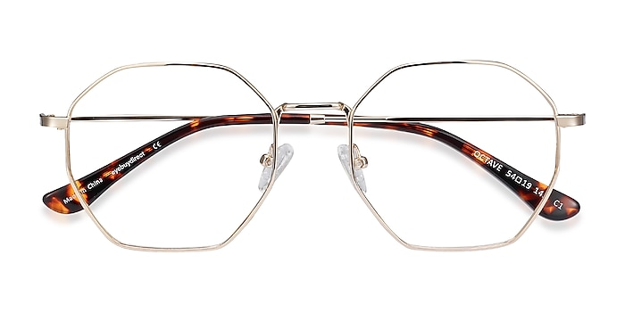 Golden Octave -  Vintage Metal Eyeglasses