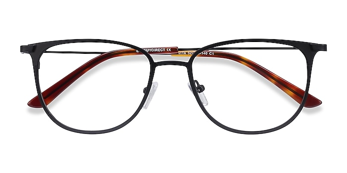 Black Vita -  Metal Eyeglasses
