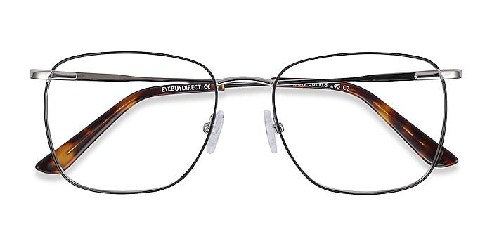 Black Silver Reason -  Vintage Metal Eyeglasses