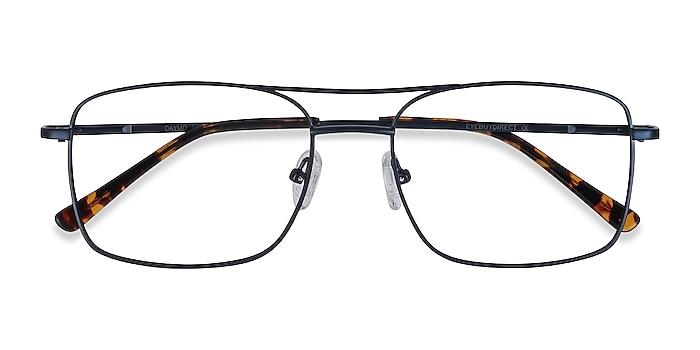 Navy Daymo -  Vintage Metal Eyeglasses