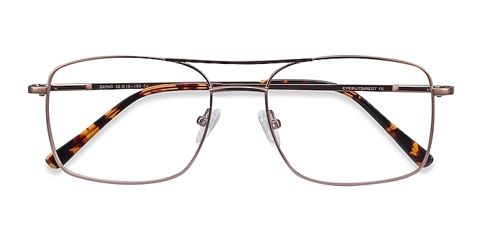 Brown Daymo -  Vintage Metal Eyeglasses